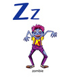 Letter Z for zombie vector image vector image