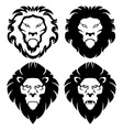 Lion Face Emblem vector image