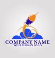 logo rocket vector image vector image