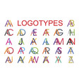 logotype templates made from combination of vector image vector image