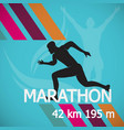 marathon runner event icon stock material vector image