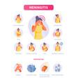 meningitis symptoms and prevention vector image vector image