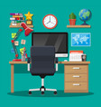modern creative office or home workspace vector image vector image