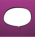 oval speech bubble retro style vector image vector image