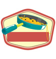 Pasta in pan and banner vector image
