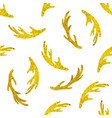 pattern with golden deer horns vector image vector image
