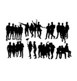 people group silhouettes vector image