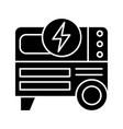 portable power generator glyph icon vector image vector image