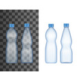 realistic plastic bottle mineral water drink vector image vector image