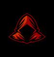 red hoodie phantom for e sports logo vector image