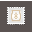 Sack of grain stamp Outline vector image vector image