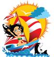 sailing beauty vector image vector image
