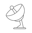 satellite dish icon image vector image vector image