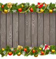 Seamless Christmas Old Wooden Board vector image vector image