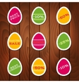 Set of stickers for easter sale vector image vector image