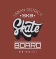 skate handwritten lettering template for card vector image vector image