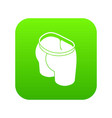 sport short icon green vector image