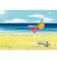 Summer holidays beach photo realistic vector image