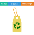 Tag with recycle sign icon vector image vector image