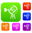 target with an arrow set collection vector image vector image