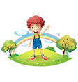 The boy and the rainbow vector | Price: 1 Credit (USD $1)