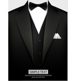 tuxedo with bow vector image