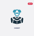 two color chemist icon from professions concept vector image