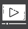 Video marketing glyph icon seo and development