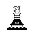 weather buoy black linear icon vector image