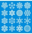 White Snowflakes Icons vector image