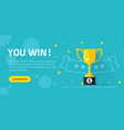 winner success award web banner or competition vector image vector image