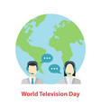 world television day tv presenters man and vector image
