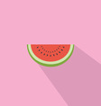 Watermelon Red Fresh Flat Design vector image