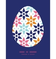 abstract colorful stars Easter egg vector image