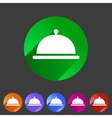 Food platter dish meal icon web sign symbol logo vector image