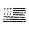 American flag grunge symbol celebration vector image vector image