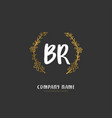 b r br initial handwriting and signature logo vector image vector image