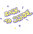 back to school - text isolated vector image