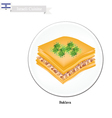 Baklava or Israeli Cheese Pastry with Syrup vector image vector image