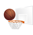 basketball and basket vector image vector image