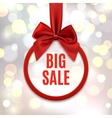 Big sale round banner vector image