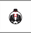 businessman wear black tuxedo vector image vector image