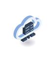 cloud technologies isometric icon vector image