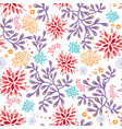 colorful underwater seaweed seamless pattern vector image vector image