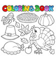 coloring book thanksgiving image 1 vector image vector image
