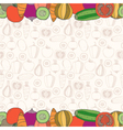 Decorative vegetables background with place vector image vector image