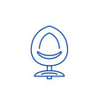 design chair line icon concept design chair flat vector image vector image