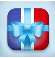 Design France Gift Icon for Web and Mobile vector image vector image
