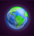 earth planet icon cartoon style vector image