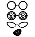 eyeglass black silhouettes vector image